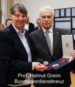 Prof Helmut Greim Bundesverdienstkreuz