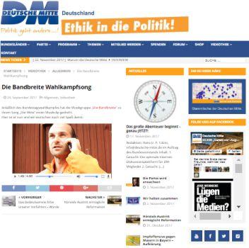 Friedensbewegung Homepage der Deutschen Mitte